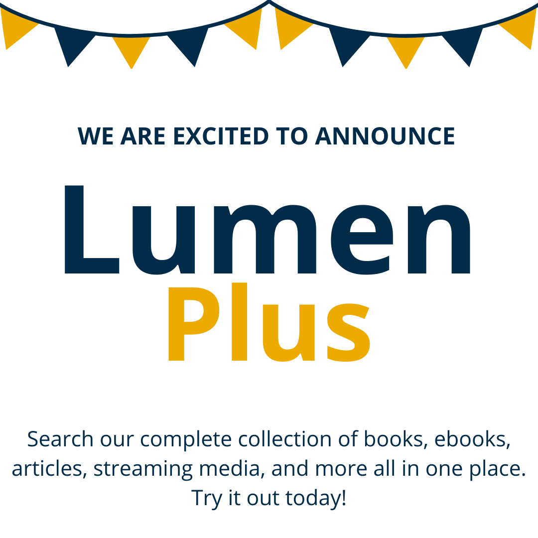 Announcement about the launch of LumenPlus search option