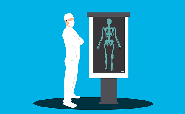 doctor viewing x-ray