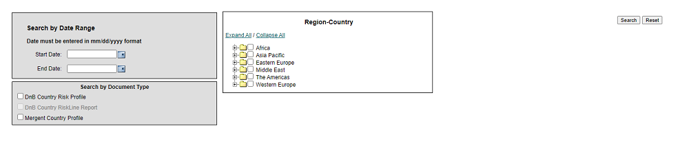 Screencap of search forms on Country insight tab