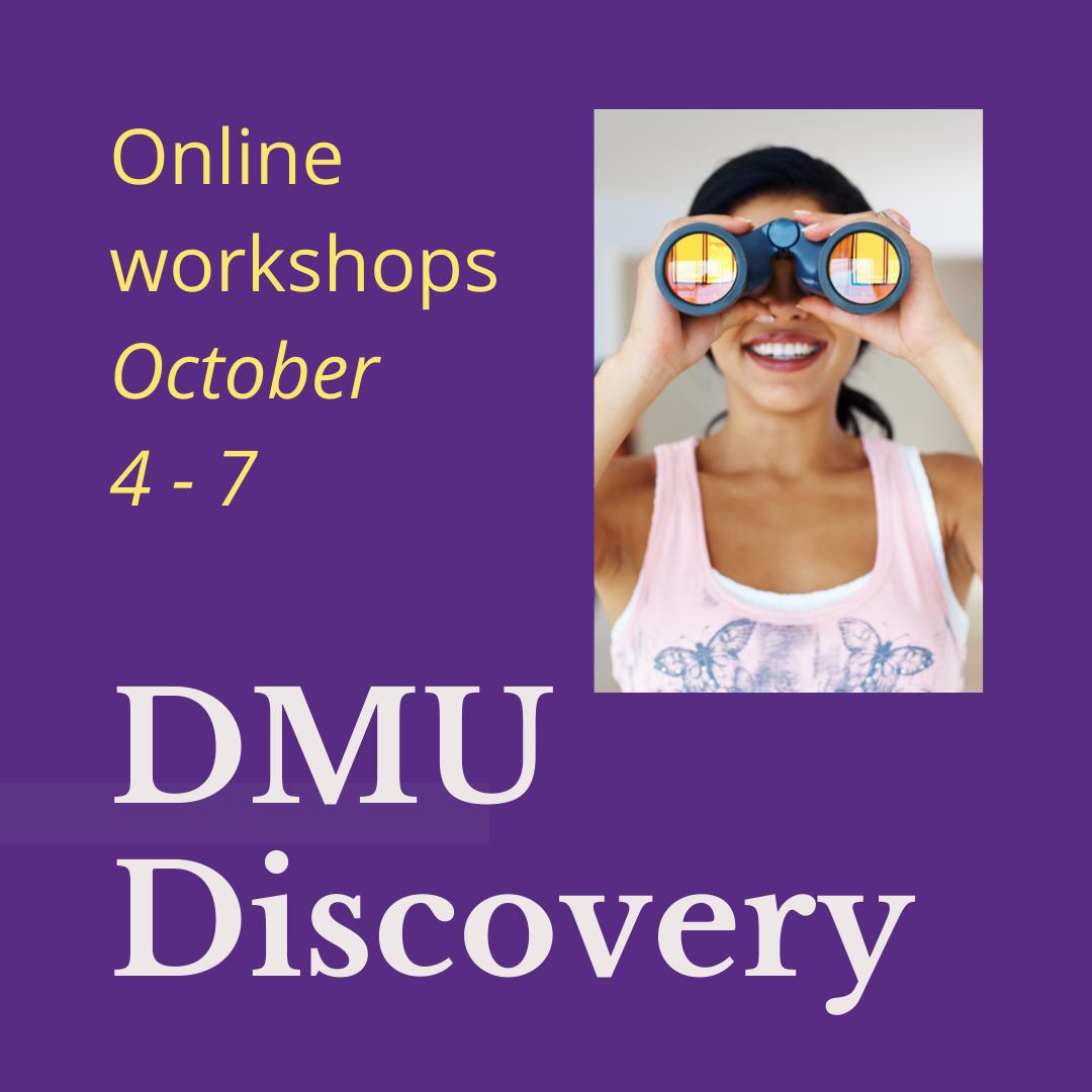 Online DMU Discovery workshops, October 4 - 7