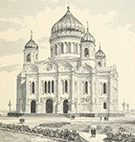 thumbnail for the newspaper collection, displaying a print of a Russian orthodox church