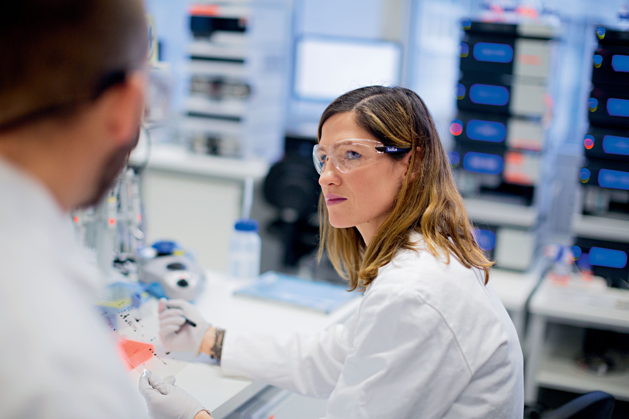 people in a laboratory