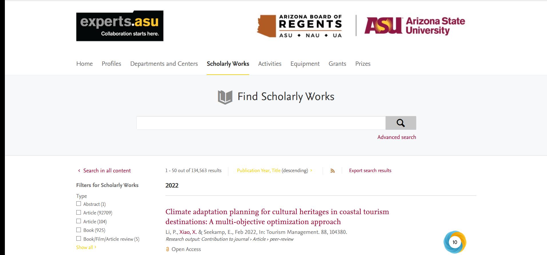 Experts.ASU Screenshot