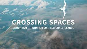 Screenshot of video Crossing Spaces title screen