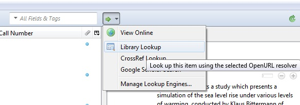 Zotero Library Lookup