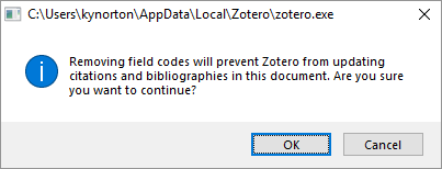 Zotero remove codes