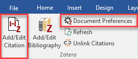 Zotero add citation to Word