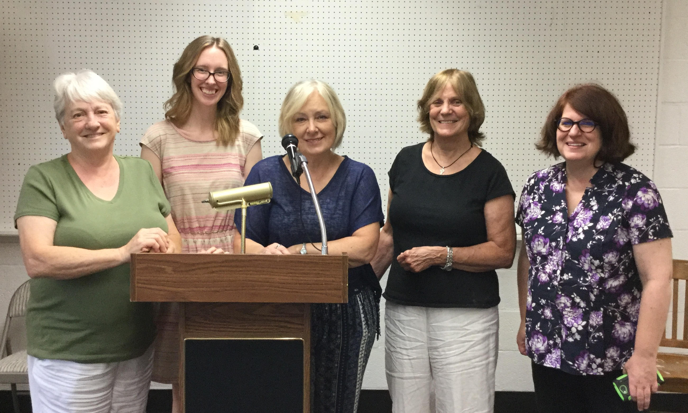Participants at the end of memoir writing classes
