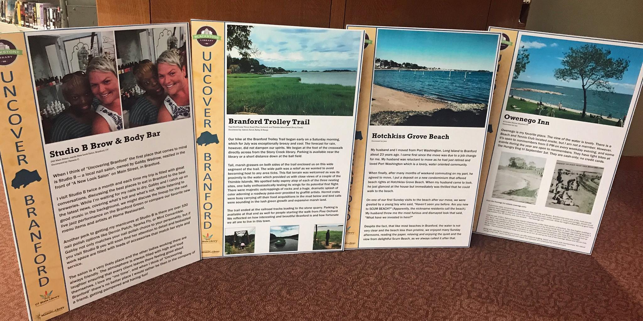 Photos and descriptions of Uncover Branford sites