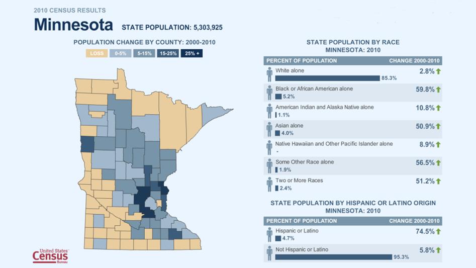 Graphic for Minnesota Census data.