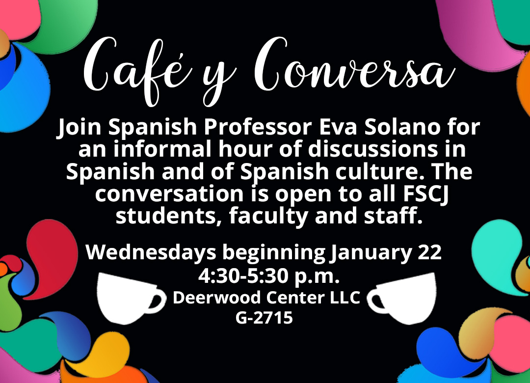 Cafe y Conversa at Deerwood Wednesdays beginning 1/22