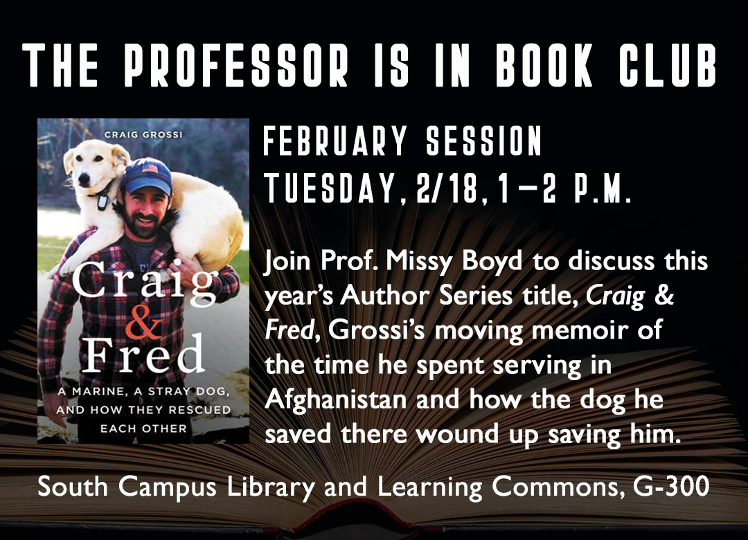 Professor is in Book Club on Craig and Fred at South 2/18