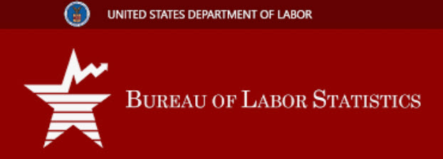 "An image of a star and the words ""United States Department of Labor"" and ""Bureau of Labor Statistics"""
