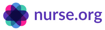 an image of the website address:  nurse.org with a flower