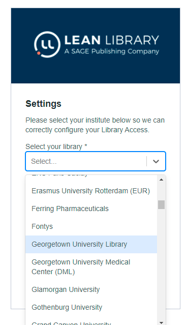 Lean Library Settings picture