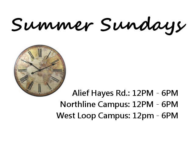 3 locations with Sunday hours