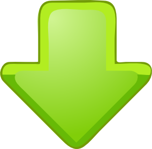 green down arrow clipart