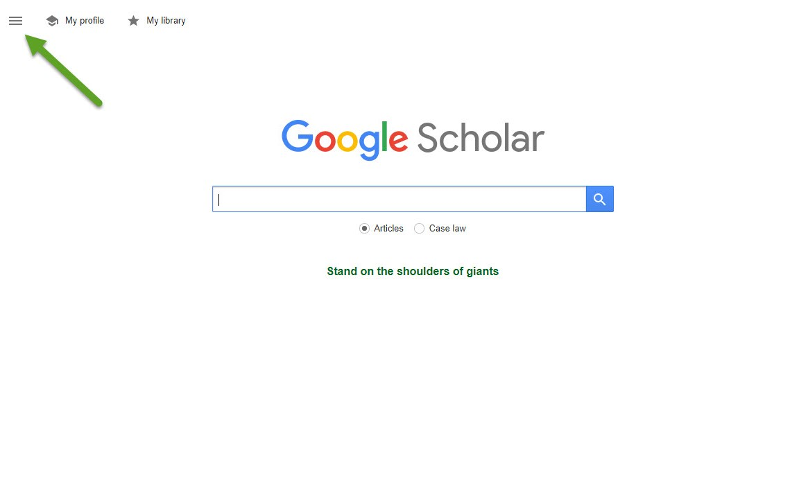 Descriptive picture Google Scholar webpage
