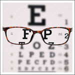 Snellen Chart with Glasses