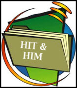 Decorate image of file folder with HIT & HIM on cover