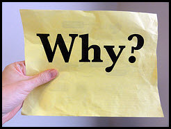 Picture of piece of paper that says Why?