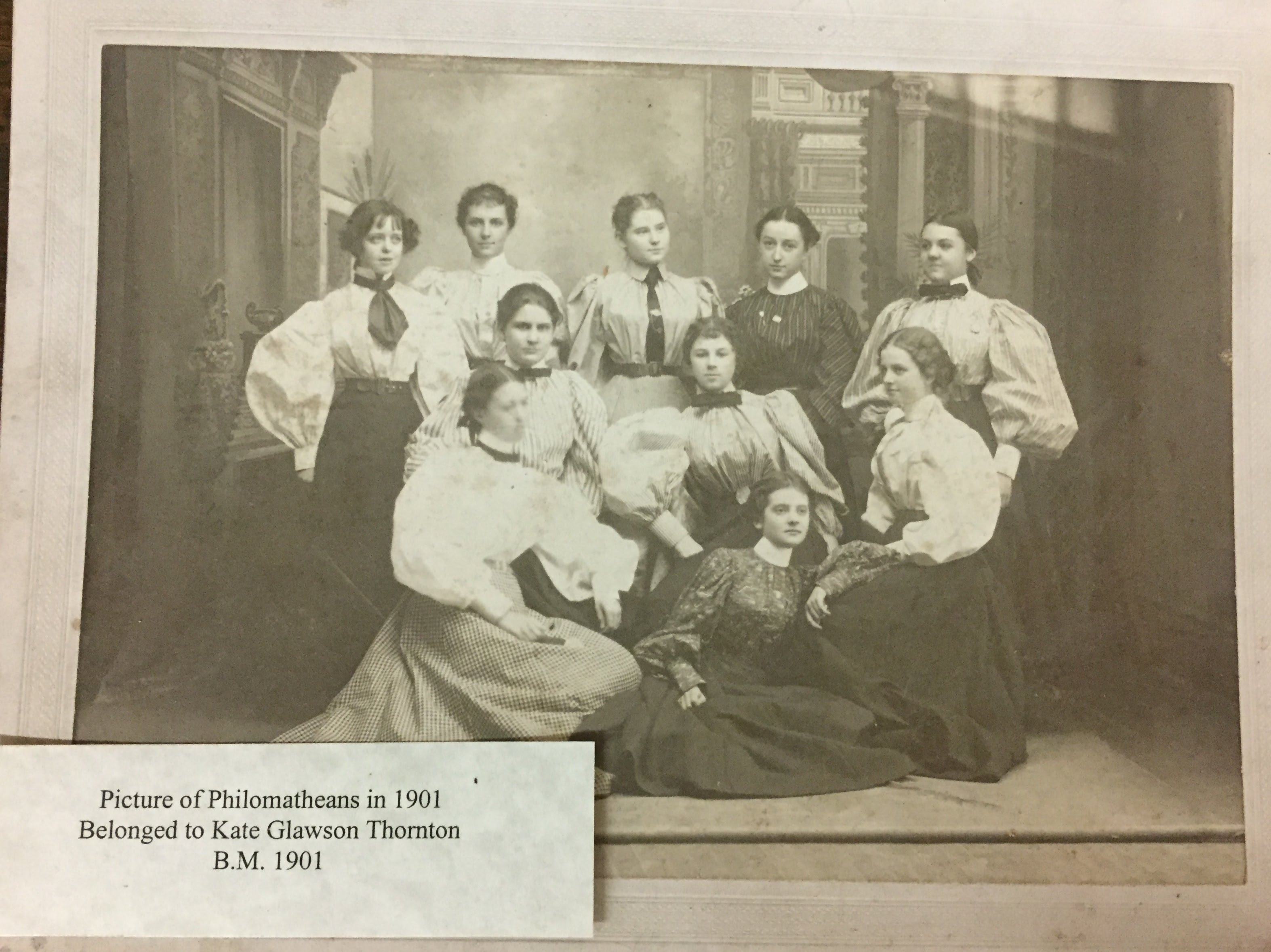 Philomathean Society, 1901