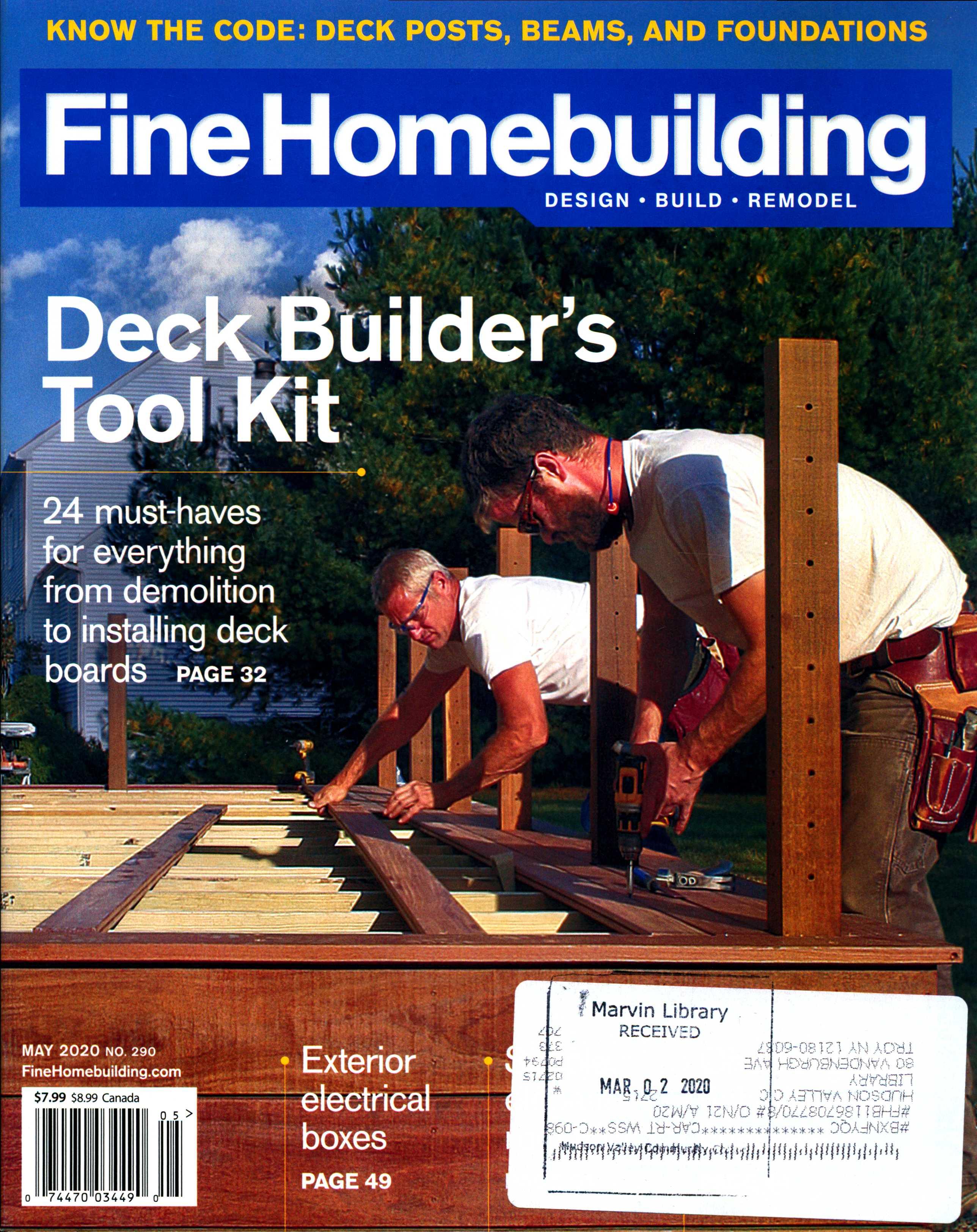 Fine Homebuilding: May 2020