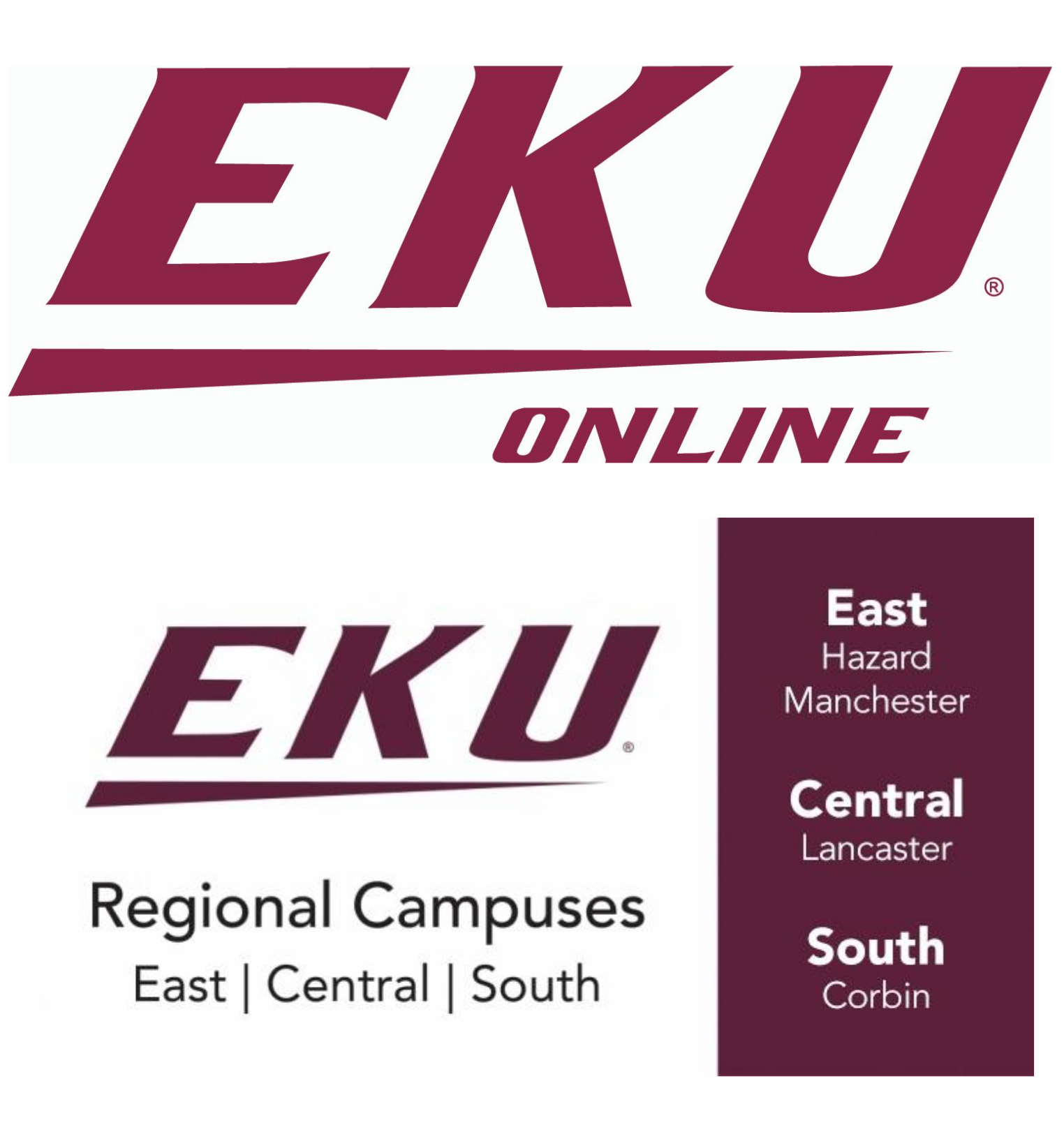 logos for EKU online and EKU Regional Campuses