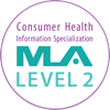 Consumer Health Information Specialization Level 2 Badge from the Medical Library Association