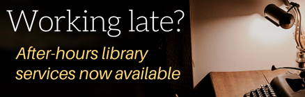 Working late? After-hours help from a librarian is now available
