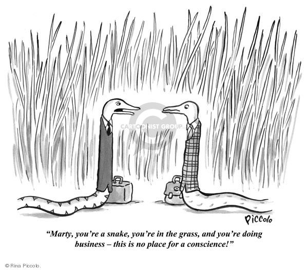 snake in the grass cartoon