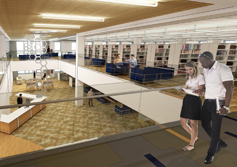 Architect rendering of Learning Commons