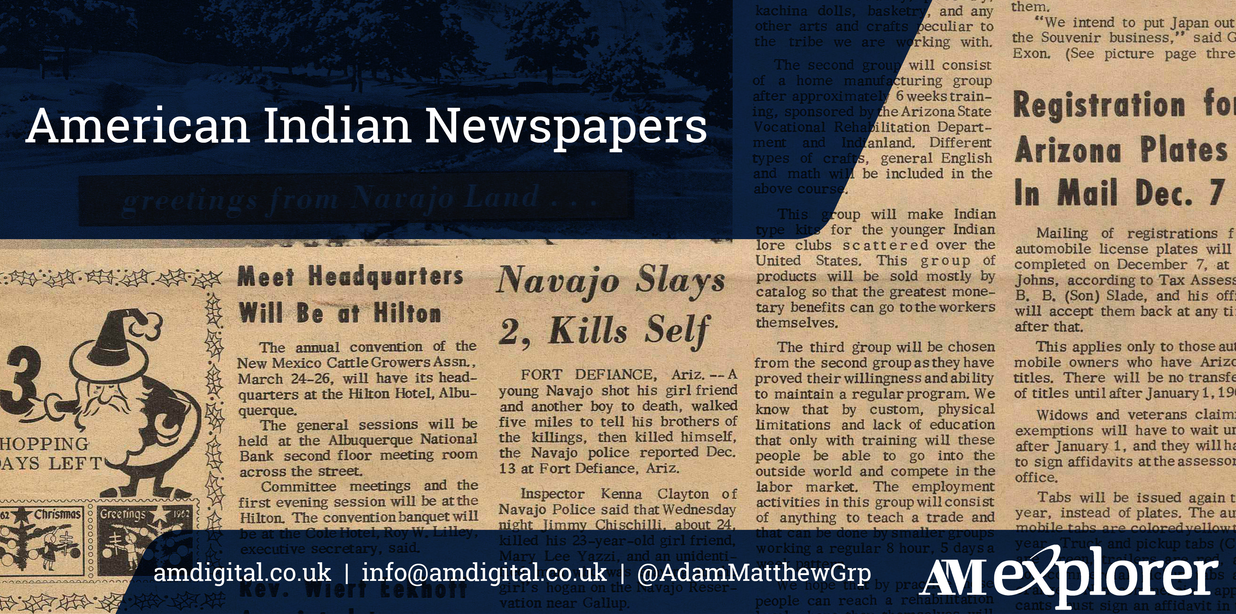 American Indian Newspapers collection image with link
