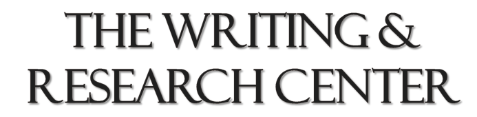 Writing & Research Center title image