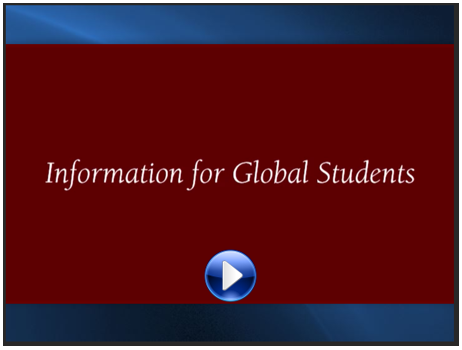 Information for Global Students image and video link