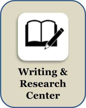Writing and research center button
