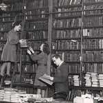 A view of the temporary Lending Library Central Library New Bridge Street Newcastle upon Tyne taken in 1949.  Public Domain.