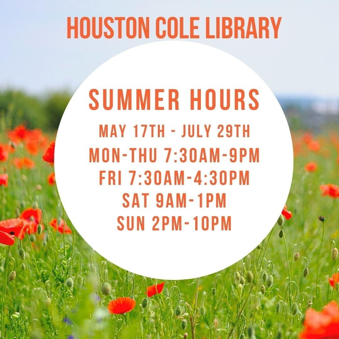 Houston Cole Library Summer Hours