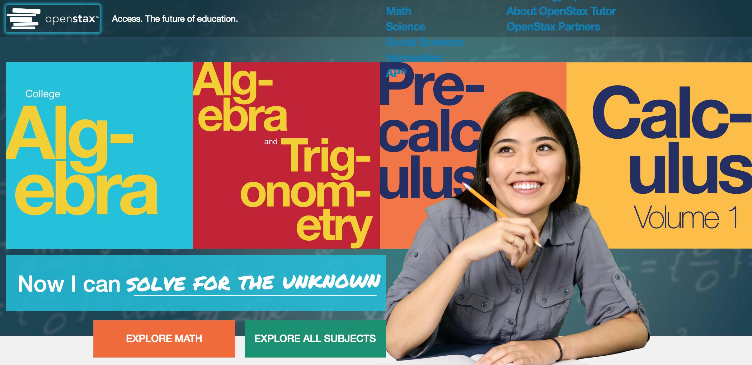 OpenStax website screenshot