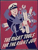 "Man with different tools with text ""The right tools for the right job"""