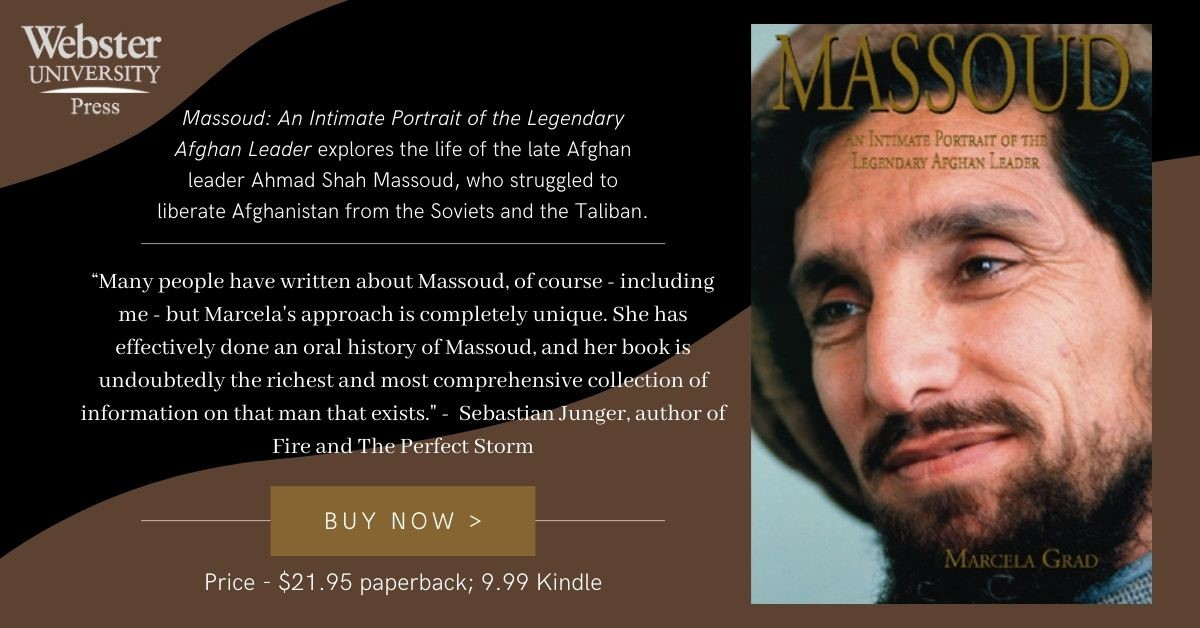 Ad for Massoud book from Webster University Press