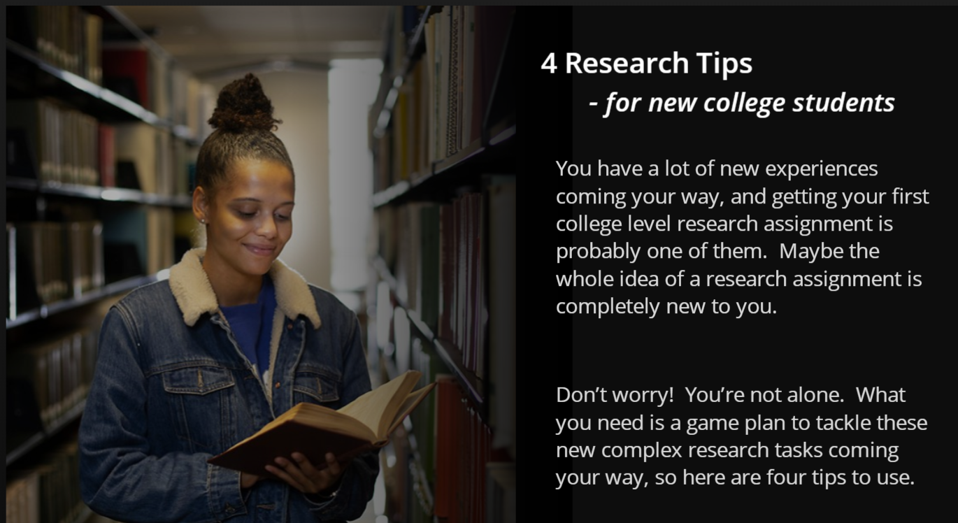 4 Research Tips for New Students