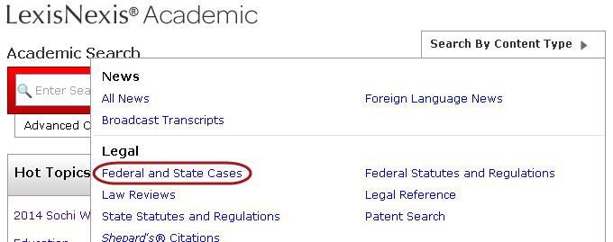 Federal and state cases