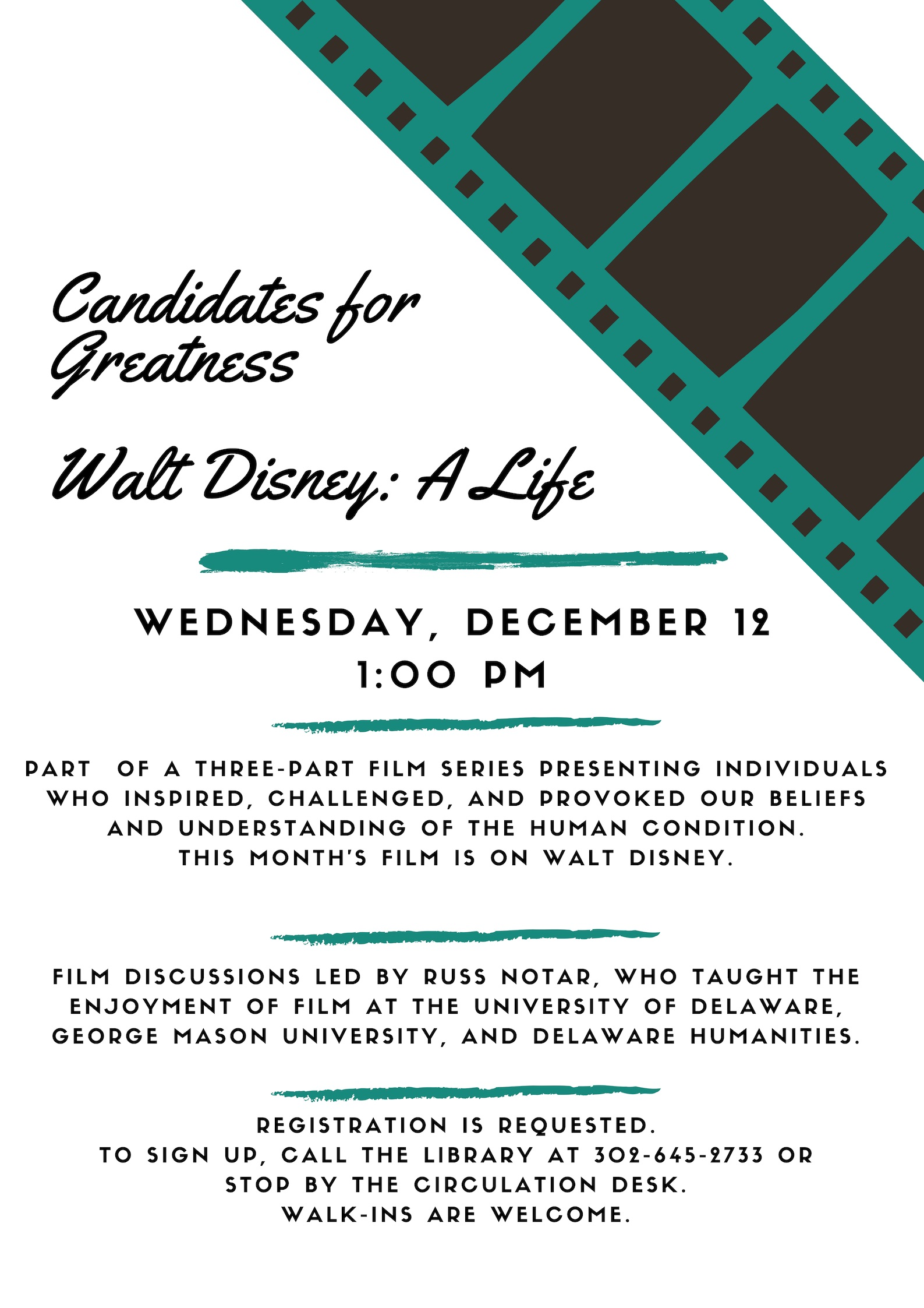 Candidates for Greatness, Session 3 - Walt Disney