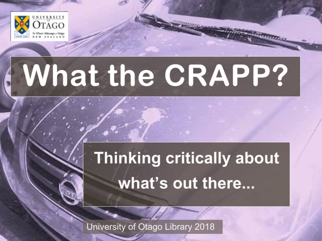 What the CRAPP [interactive learning module]