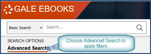 Gale Ebooks basic search