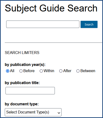Gale subject guide search