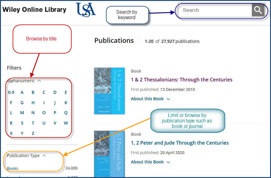 Wiley ebooks basic search