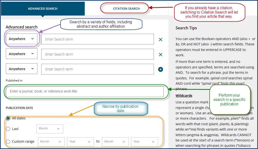 Wiley ebook advanced search