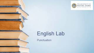 Video on punctuation
